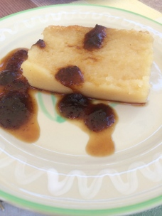 Cassava with sorrel jam.