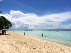White sands, calm and salty waters. Fun in the sun!