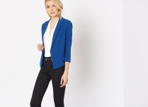 Blue cropped blazer from Dynamite Clothing