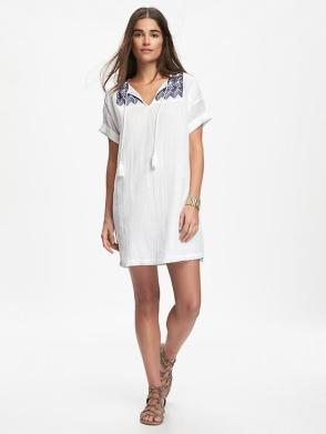 Embroidered Cocoon Dress from Old Navy