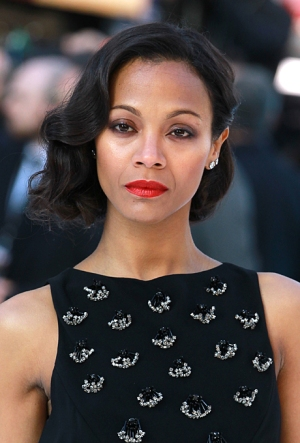 great-gatsby-wedding-hairstyles-inspiration-zoe-saldana